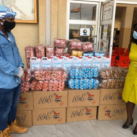 Edem and Foodtech Ghana Limited donate to Lekma Hospital #COVID19 frontline workers – SEE PHOTOS