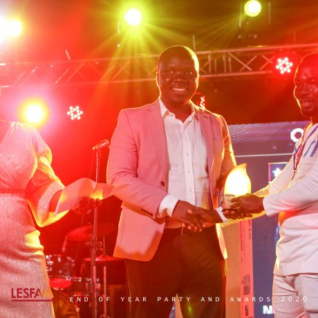 "Mr. Dominic Amakye Banks Aka KALA Wins ""Overall Best Work"" At Lesfam End of Year Party & Awards 2020"