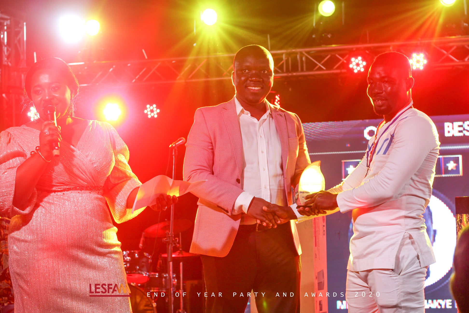 """Mr. Dominic Amakye Banks Aka KALA Wins """"Overall Best Work"""" At Lesfam End of Year Party & Awards 2020"""